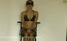 tie her up and blindfold my asian slut and do what I want with her